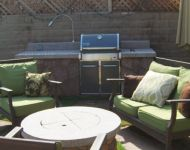 Barbecue fire pit area