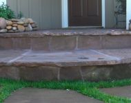 Chocolate flagstone steps